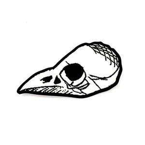 "Bird skull 3"" sticker"