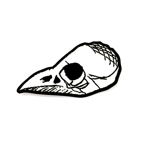 Bird skull 3 sticker moon of retribvtion