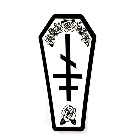 Coffin Vinyl Sticker