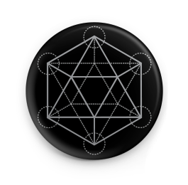 "Sacred Geometry d20 1"" Button"