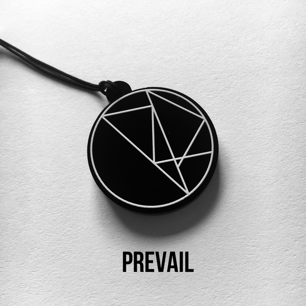 RETRIBUTION and PREVAIL sigil acrylic charms