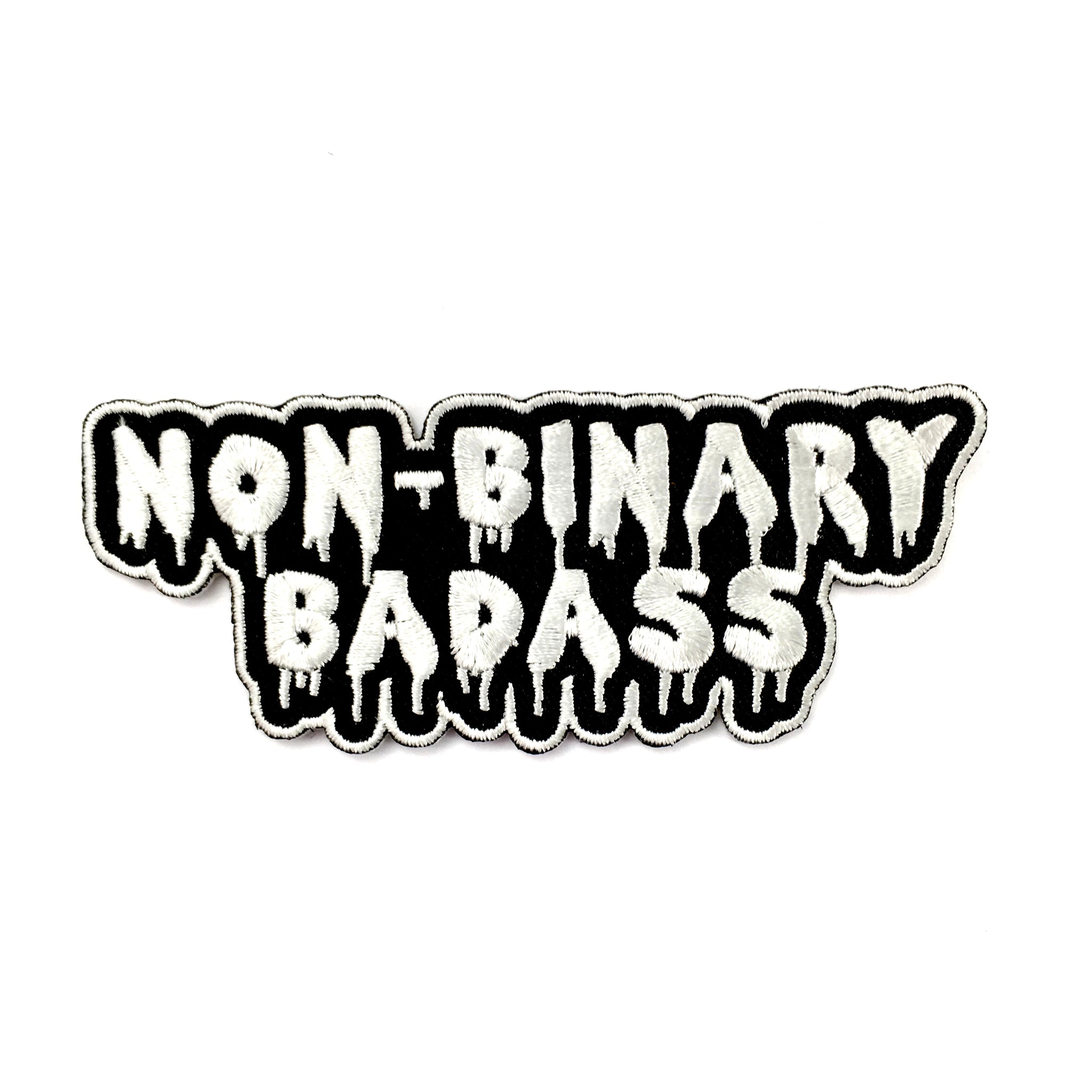 Non-Binary Badass Iron-On Embroidered Patch