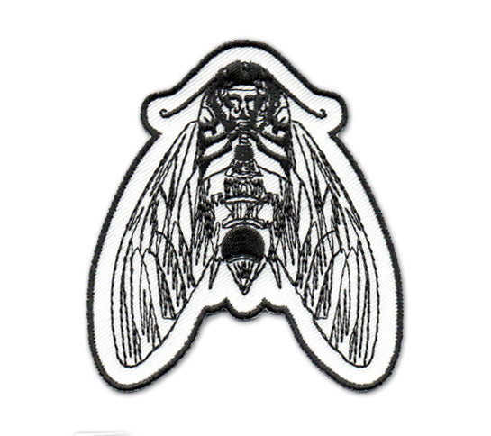 Death's Head Moth Iron-On Embroidered Patch
