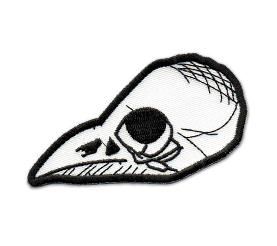Bird Skull Iron-On Embroidered Patch