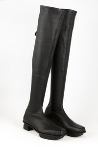 ED x LL AW / over the knee strech leather boots