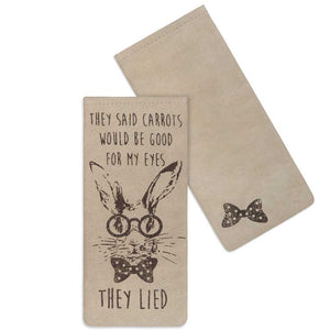"""They Lied"" Glasses Case"