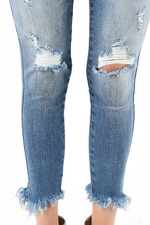 KanCan Distressed Jeans Frayed Hem