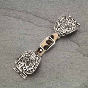 Western/Leopard Apple Leather Watch Band