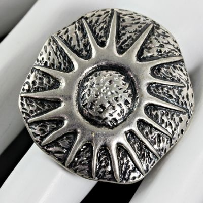 Silver Sunburst Stretch Ring