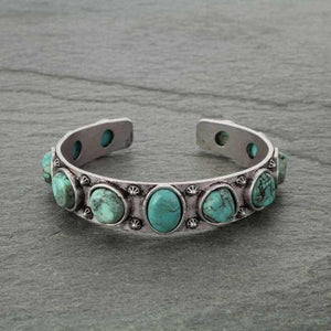 Silver Plated Natural Stone Bracelet