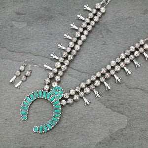 Turquoise Concho Statement Necklace