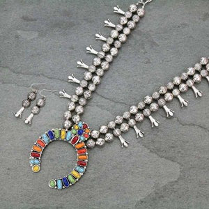 Multi-Color Concho Statement Necklace