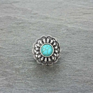 Turquoise Concho Stretch Ring