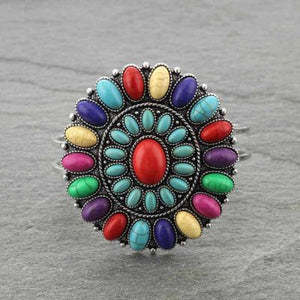 Multi-Color Concho Cluster Braclet