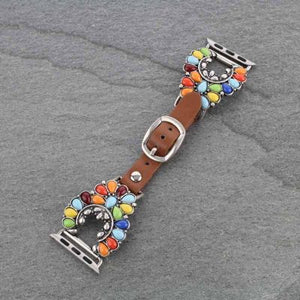 Squash Blossom Multi-Color Apple Watch Band (38mm-40mm)