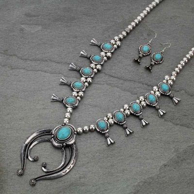 Western Squash Blossom Necklace Set