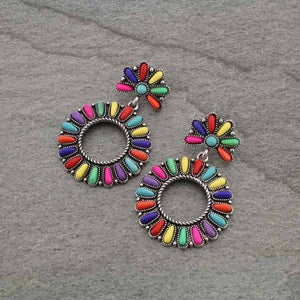 Multi-Color Stone Earrings