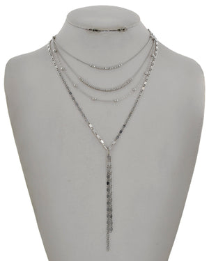 Silver Triple Layer Necklace