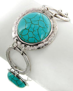 Silver/Turquoise Bracelet