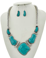 Antique Silver/Turquoise Statement Set