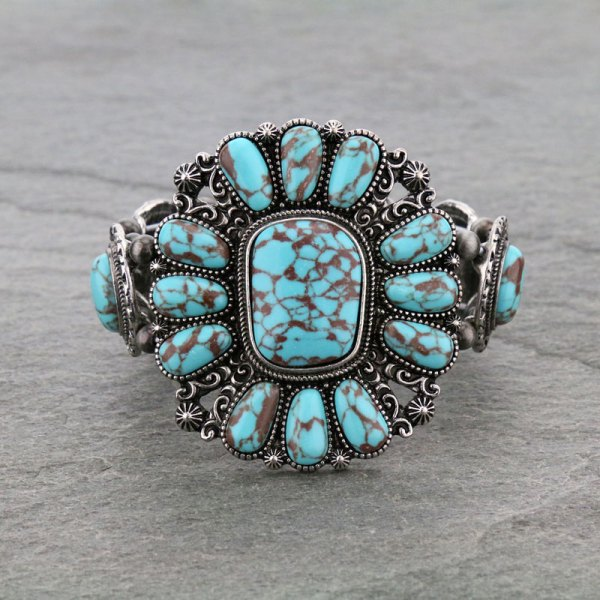 Western Style Turquoise Stretch Bracelet