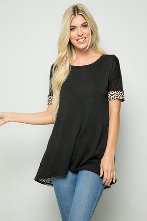 Cross Leopard Top