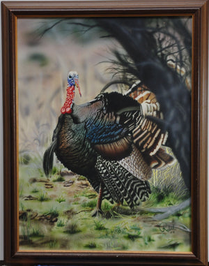 "Framed ""Turkey"" Acrylic Painting"