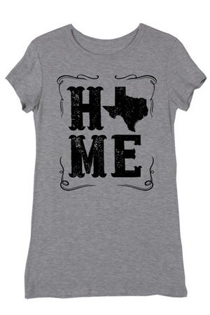 Texas Home Grey Tee