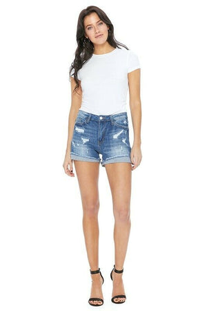 Judy Blue High Waist Cuffed Shorts