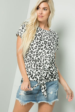 Wild Cat Animal Print Top