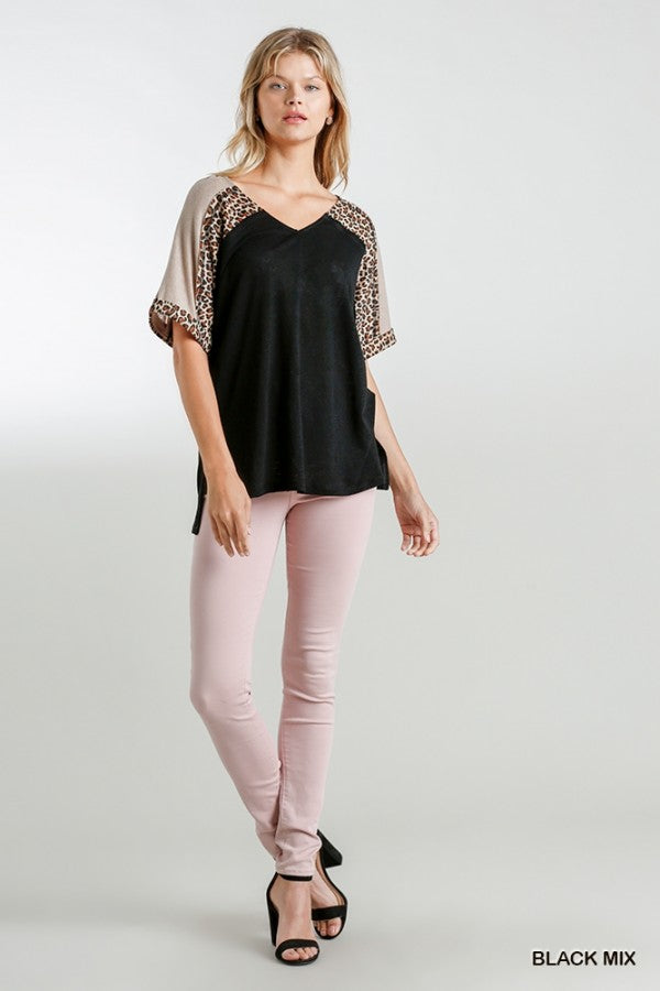 Umgee V-Neck Animal Print