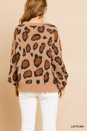 Umgee Animal Print Sweater