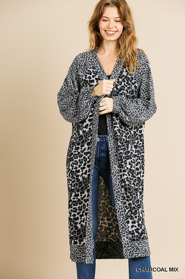 Umgee Animal Print Cardigan
