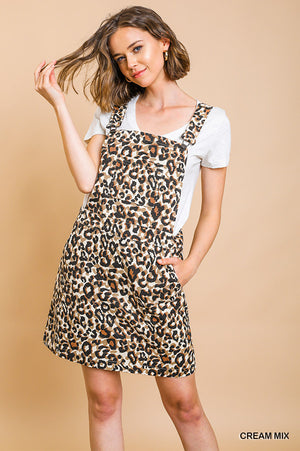 Umgee Animal Print Overall Dress