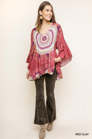 Umgee Red Clay Medallion Tunic