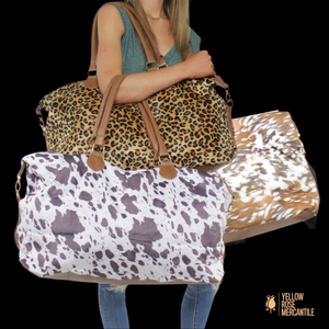 Weekend Totes-Cow, Deer & Leopard Print
