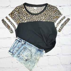 Plus Size Leopard Print On Top