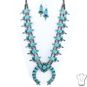 "Squash Blossom 24"" Necklace Set"