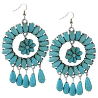 Dream Catcher Turquoise Earrings