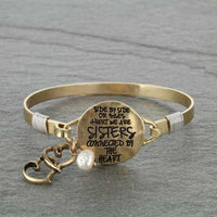 """SISTERS"" Gold Message Bracelet"