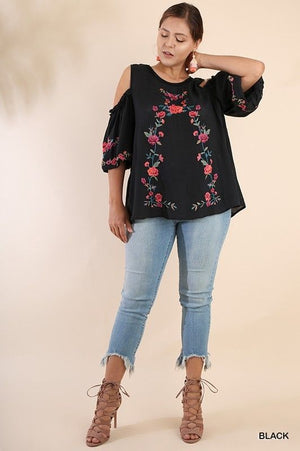 Plus Size Umgee Puff Sleeve Top