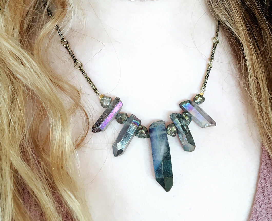 Quartz points necklace