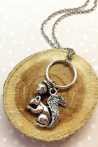 Acorn Squirrel Necklace