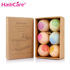 Organic 6 pcs Bath Bombs Gift Set