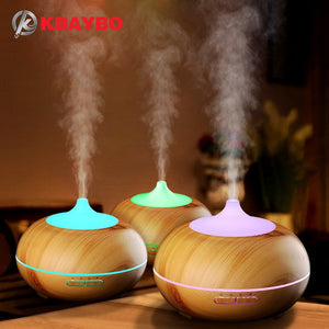 300ml Aroma Diffuser Aromatherapy Wood Grain Essential Oil Diffuser