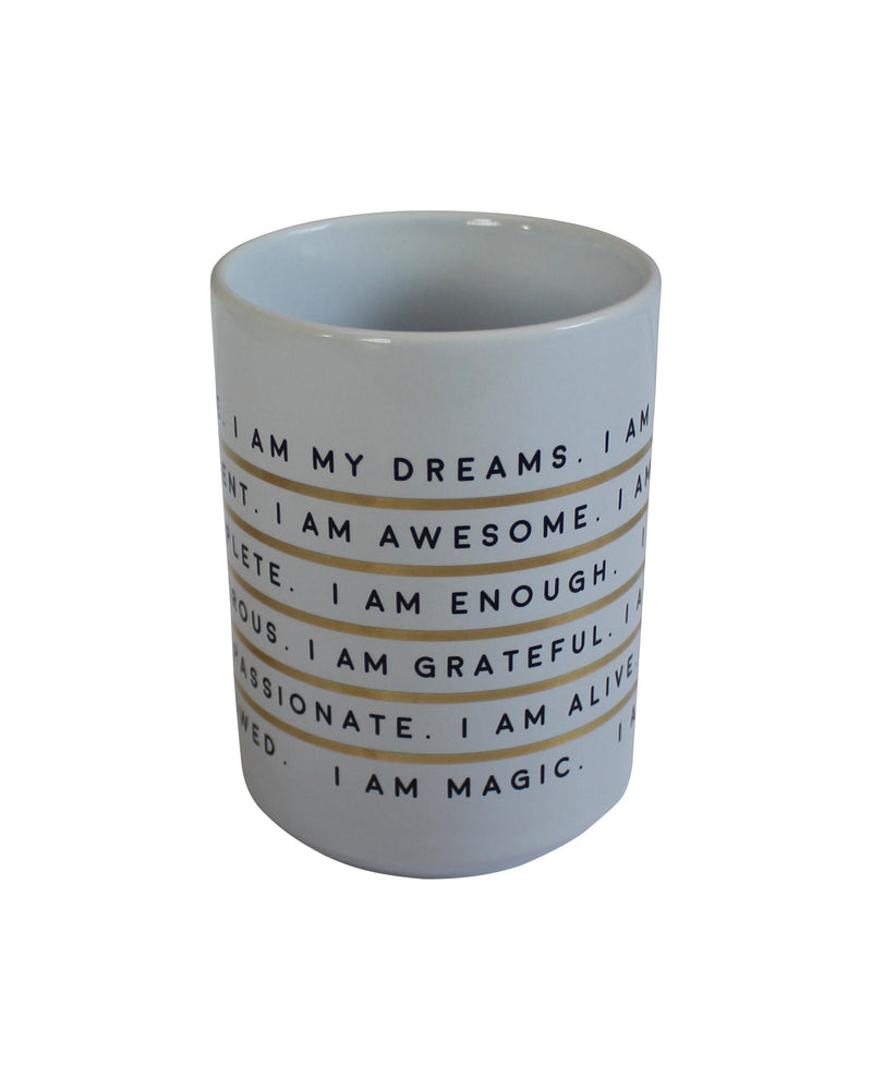 Your Joyologist - I Am Affirmation - Porcelain Mug - Charm City Noir