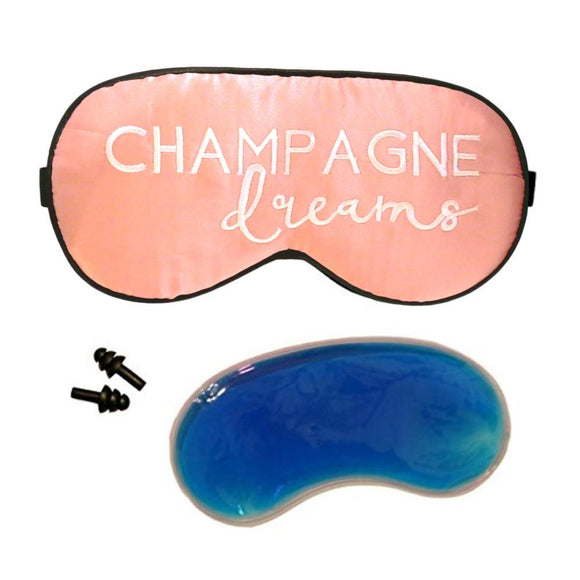 The Sleepy Cottage - Silk Champagne Dreams Sleep Mask with cooling gel - Charm City Noir