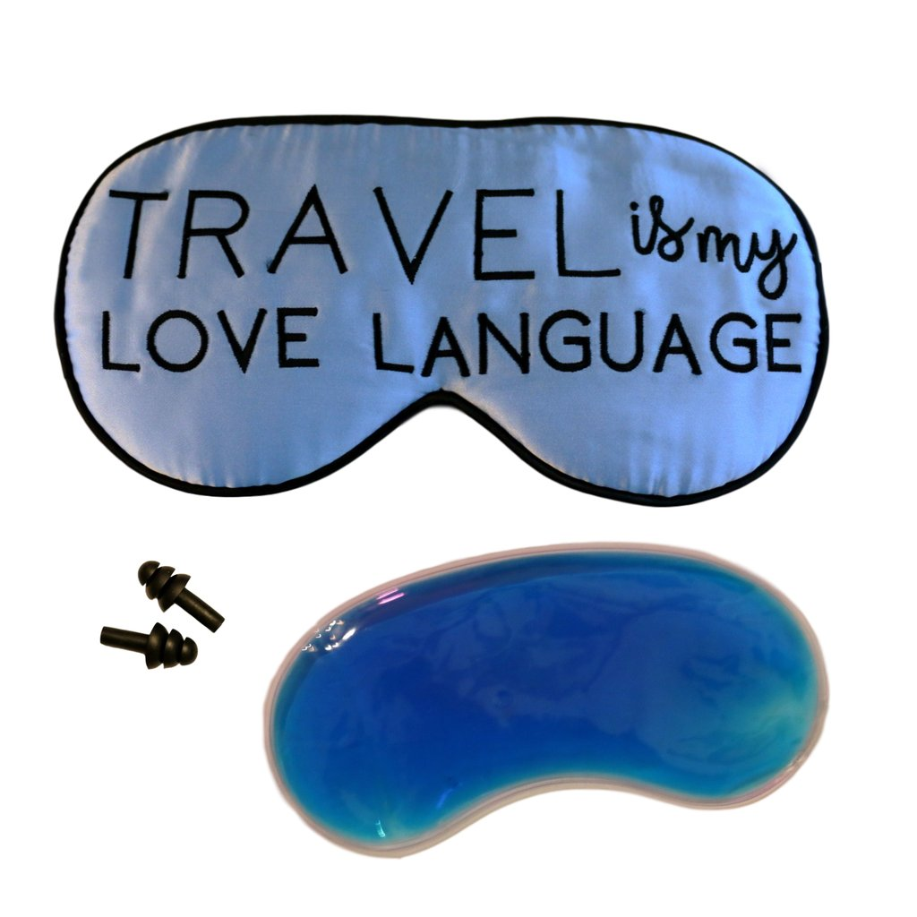 The Sleepy Cottage - Silk Travel is my Love Language Sleep Mask with Cooling Gel - Charm City Noir