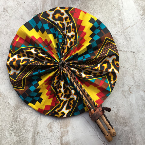 Nzinga Leather Fan
