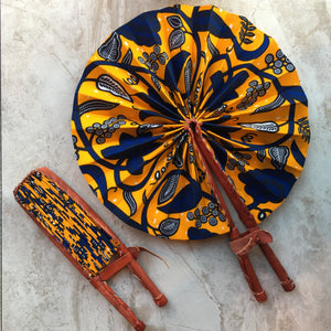 Leather Fan: Ankara Collection